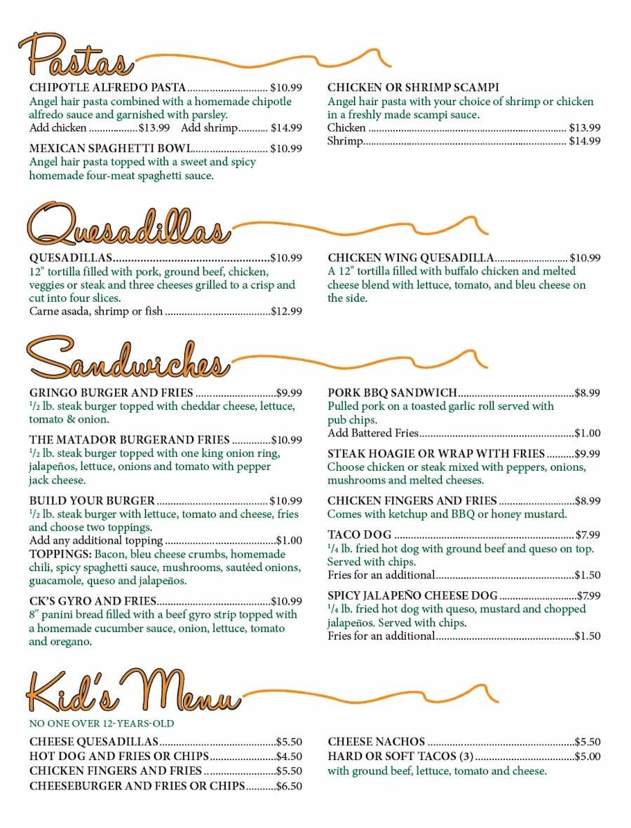 CKS menu 4